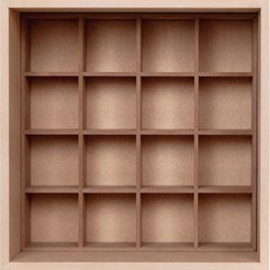 小物/衣類収納箱/小・深め(小物収納ボックス・小物収納ケース・小物収納ラック・小物ラック・木製)(BLC-04×1・BLC-16-XL×1) /マルゲリータ