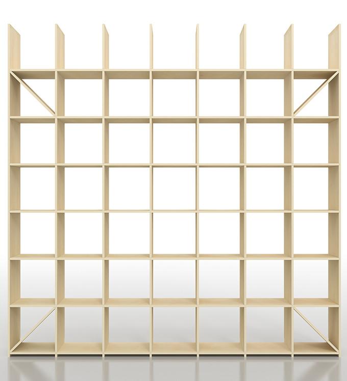 シェルフ ラック おしゃれ 本棚 壁 本収納 収納家具 本棚収納 壁面 大容量 木製 オシャレ インテリア 送料無料 奥行350 縦7コマ×横7コマ SLF-AR-2400-2400-EX 壁面収納 収納棚 収納