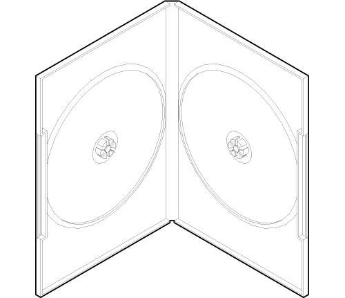 DVDプラケース 2枚用 アマレータイプ ディスク止め Mシステム 100枚セット(アマレーケース DVDケース DVD収納ケース DVDプラスチックケース DVD保護ケース DVD整理ケース DVD保存ケース DVD保管ケース DVD収納用品) /マルゲリータ