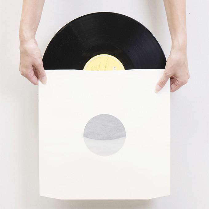 ベーレンプラッテ LPレコード内袋 紙製 グラシン付き 両穴 100枚セット /マルゲリータ