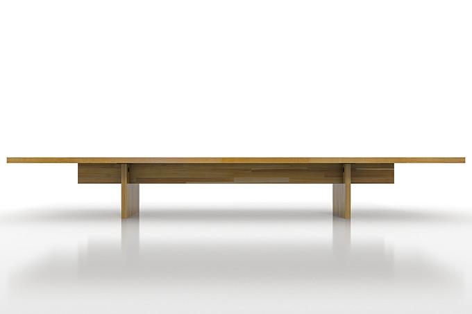 座卓 W2400×W900(卓袱台 ちゃぶ台 食卓 ローテーブル 低いテーブル 机 デスク 無垢集成材)ZTK-2400-900-M-EX /マルゲリータ