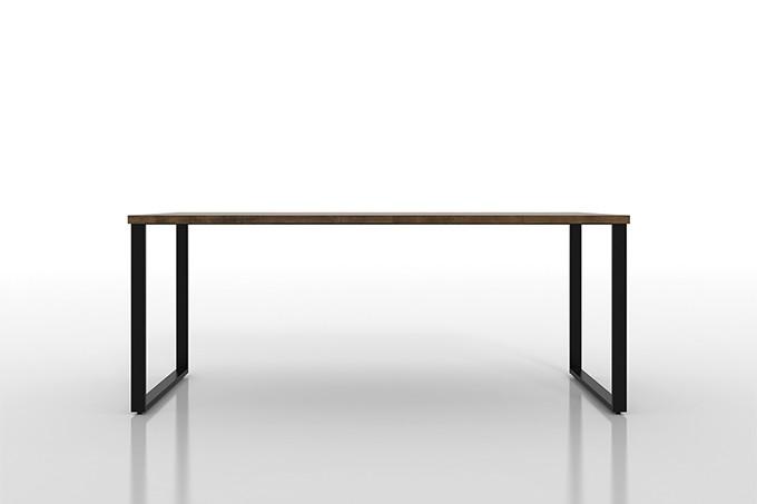 ダイニングテーブル スチール脚(ロ型)W1800×D900(ダイニング テーブル 食卓テーブル リビングテーブル キッチンテーブル 机 デスク 無垢集成材 4人掛け 6人掛け)DT-1800-900-RO /マルゲリータ