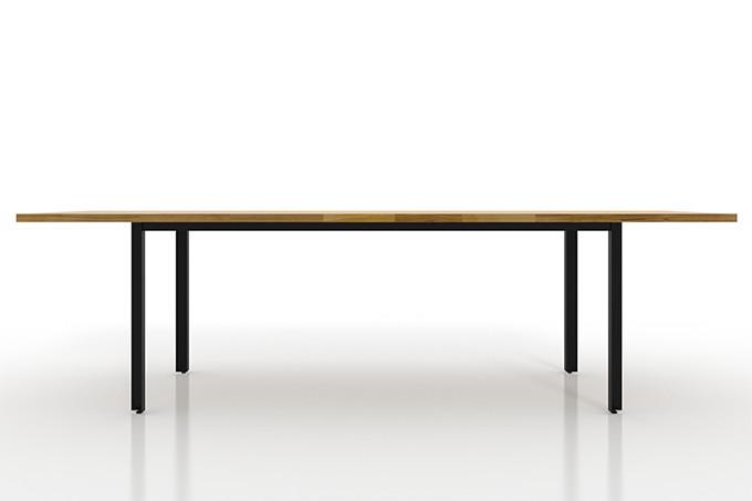 ダイニングテーブル スチール脚(L型)W2400×D900(ダイニング テーブル 食卓テーブル リビングテーブル キッチンテーブル 机 デスク 無垢集成材 4人掛け 6人掛け)DT-2400-900-SL /マルゲリータ