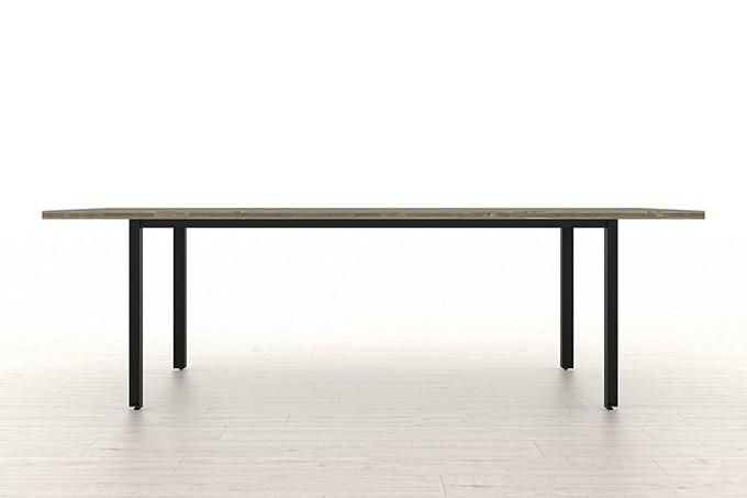 スプルス積層パネルを用いたテーブル スチール脚(浮造り調)W2400×D900(ダイニング テーブル 作業台)UG-2400-900 /マルゲリータ