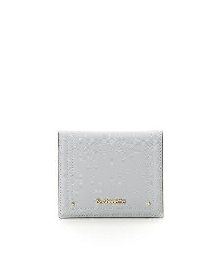 サマンサタバサ 折財布 シンプルミニ財布 ライトブルー &chouette