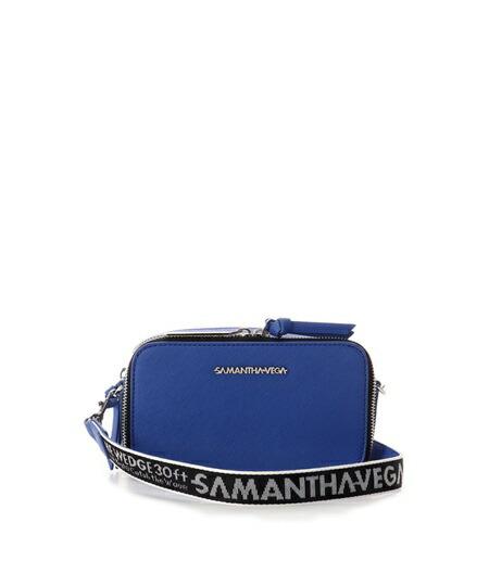 サマンサタバサ ショルダーバッグ ロゴテープショルダーバッグ ブルー Samantha Vega