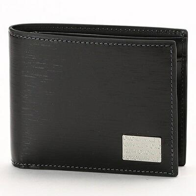 カルバンクライン 折財布 ヘアラインII 2つ折り ブラック CalvinKlein