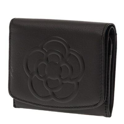 クレイサス 財布 折財布 二つ折り BOX ワッフル ブラック CLATHAS
