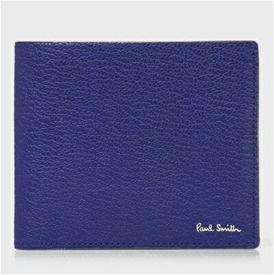 ポールスミス 折財布 カラーブロックゴート 二つ折り ブルー Paul Smith