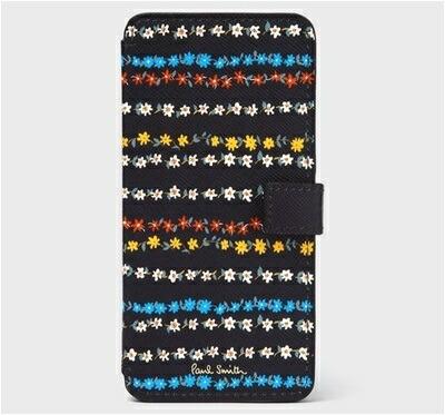 ポールスミス モバイルケース フローラルストライプ iPhone ケース ブラック Paul Smith