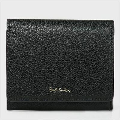 【あす楽】ポールスミス 折財布 カラーブロックゴート 二つ折り ブラック Paul Smith