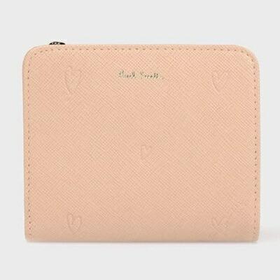 ポールスミス 折財布 スミシーハート 2つ折り ピンク Paul Smith