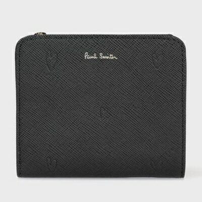 ポールスミス 財布 折財布 スミシーハート 2つ折り ブラック Paul Smith