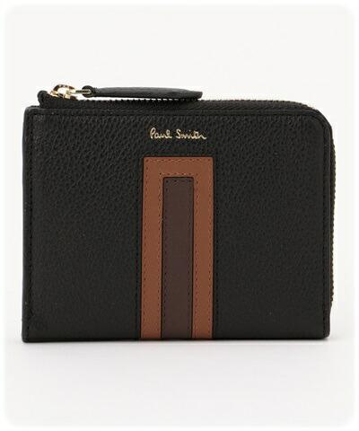 ポールスミス Paul Smith ミニ財布 マルチカラーブロック ブラック