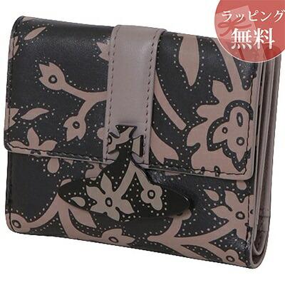 ヴィヴィアンウエストウッド 折財布 バンダナフラワー 二つ折り財布 ブラック Vivienne Westwood