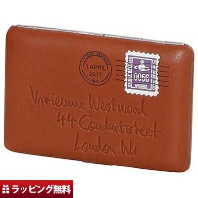 ヴィヴィアンウエストウッド Vivienne Westwood カードケース レディース エンベロープ ブラウン