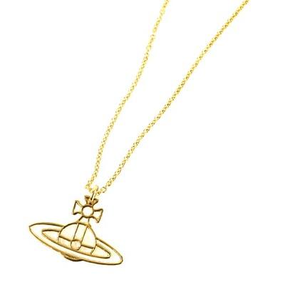 ヴィヴィアンウエストウッド ネックレス THIN LINES FLAT ORB PENDANT ゴールド Vivienne Westwood
