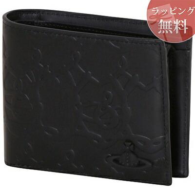 ヴィヴィアンウエストウッド 財布 折財布 二つ折り ORBワイヤー ブラック Vivienne Westwood