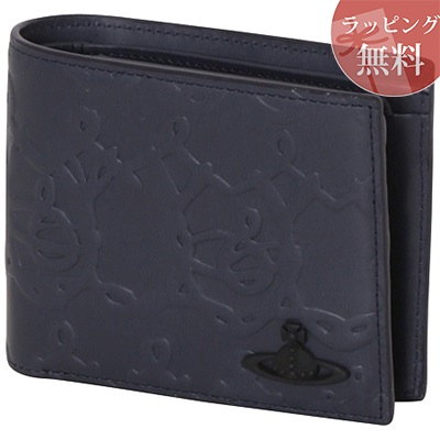 ヴィヴィアンウエストウッド 財布 折財布 二つ折り ORBワイヤー ネイビー Vivienne Westwood