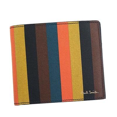 ポールスミス 財布 折財布 二つ折り マルチカラー Paul Smith