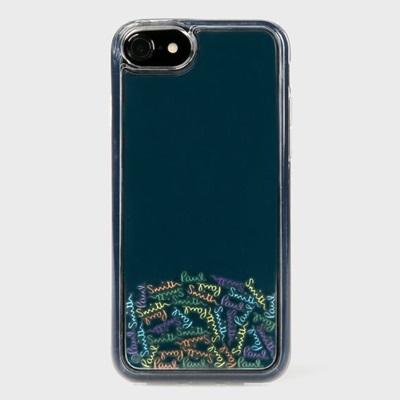 ポールスミス iPhone ケース iPhone7、7S、8兼用 シグネチャーモチーフ 004 ポップロゴ ネイビー Paul Smith