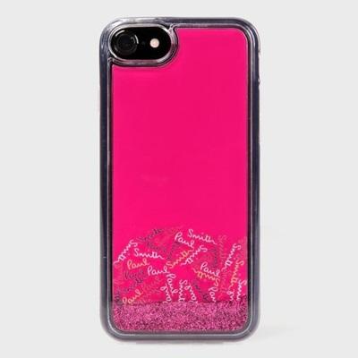ポールスミス iPhone ケース iPhone7、7S、8兼用 シグネチャーモチーフ 005 ポップロゴ ピンクラメ Paul Smith
