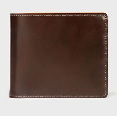 ポールスミス 財布 折財布 PC蝋引きコードバン 二つ折り ブラウン Paul Smith