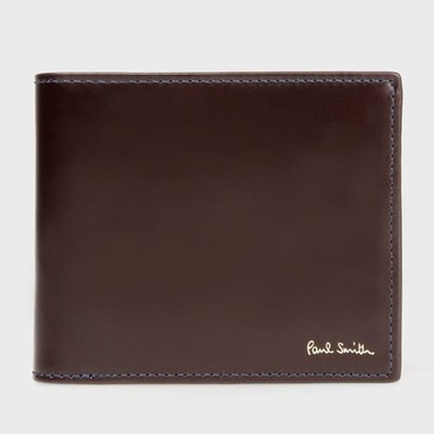 ポールスミス 財布 折財布 コードバン 二つ折り バーガンディー Paul Smith