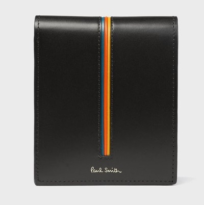 ポールスミス 折財布 ストライプエッジ 2つ折り財布 ブラック Paul Smith