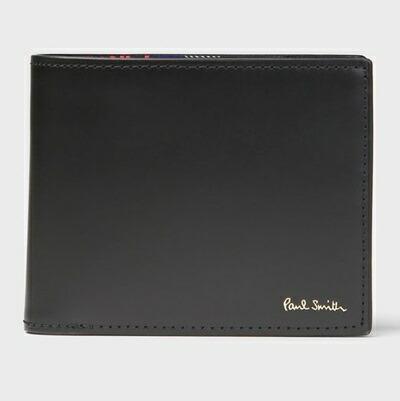 ポールスミス 折財布 サイクルグローブ 2つ折り財布 ブラック Paul Smith