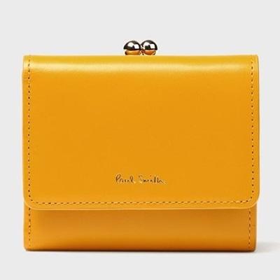 ポールスミス 財布 折財布 がま口 フローラルストライプインサイド イエロー Paul Smith