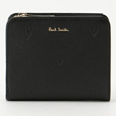 ポールスミス 財布 折財布 二つ折り スミシーハート ブラック Paul Smith