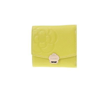 クレイサス 折財布 リモナード ボックス三つ折財布 ライム CLATHAS