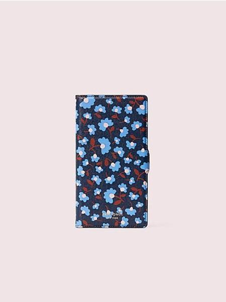 ケイトスペード モバイルケース アイフォン ケース パーティー フローラル マグネティック フォリオ 11 Pro Max BLAZER BLUE kate spade