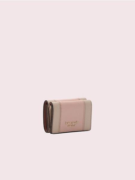ケイトスペード 折財布 スペンサー ミニ トライフォールド ウォレット ROSY CHEEKS/WARM BEIGE kate spade
