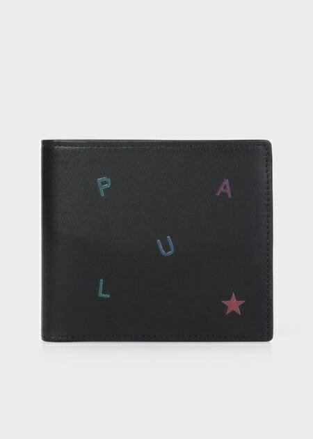 ポールスミス 折財布 ポール・スミス レターズ 2つ折り財布 ブラック Paul Smith