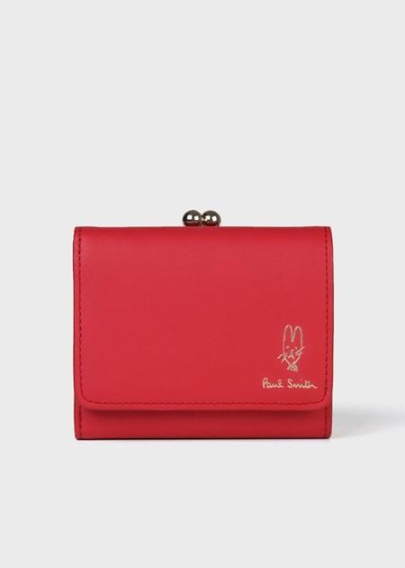 ポールスミス 折財布 バルーンバニーエンボス 3つ折り財布 レッド Paul Smith