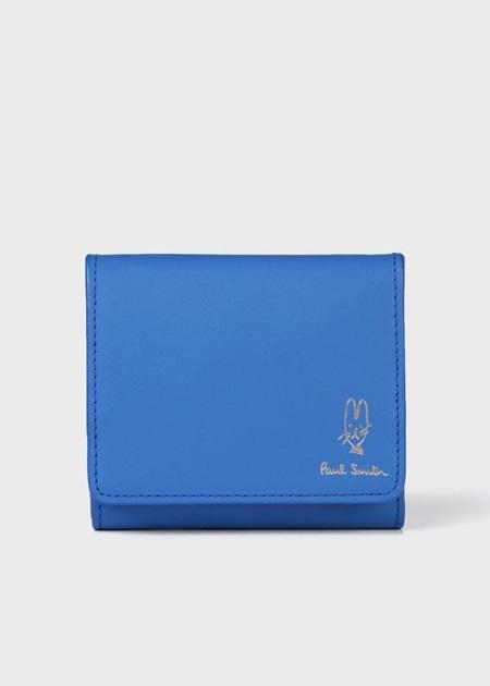 ポールスミス 折財布 バルーンバニーエンボス ミニ財布 ブルー Paul Smith