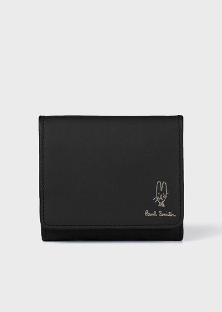 ポールスミス 折財布 バルーンバニーエンボス ミニ財布 ブラック Paul Smith