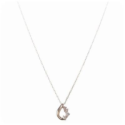 4℃ ヨンドシー ダイヤモンドティアドロップネックレス ダイヤ×ピンクゴールド