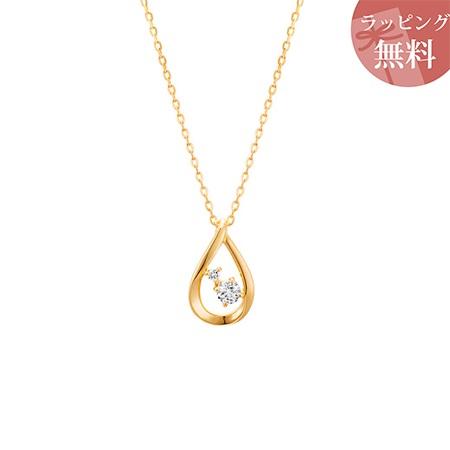 ヨンドシー ネックレス ダイヤモンド しずくモチーフ K18イエローゴールド 4℃