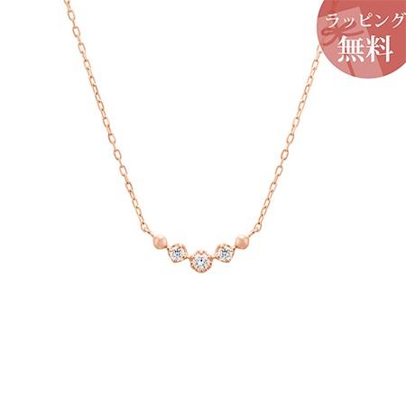 ヨンドシー ネックレス ダイヤモンド ライン K10ピンクゴールド 4℃