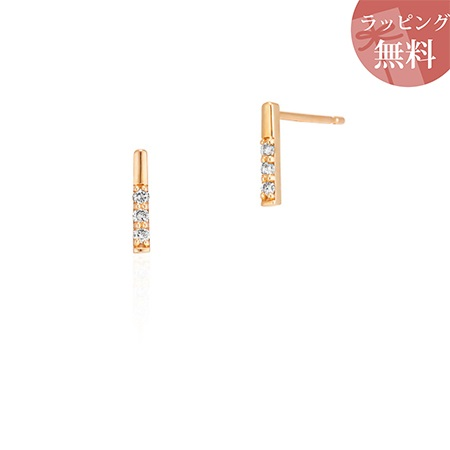 ヨンドシー ピアス ダイヤモンド シンプル K10イエローゴールド 4℃
