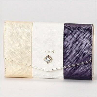 ルリアヨンドシー Luria 4℃ 三つ折り財布 ベージュ