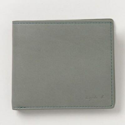 アニエスべー 折財布 ウォレット カーキ agnes b