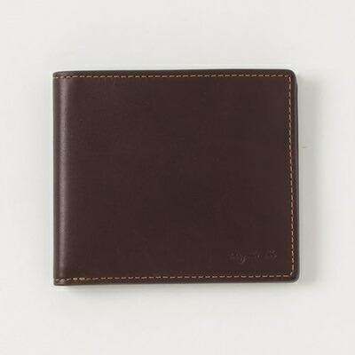 アニエスべー 折財布 カードウォレット ブラウン agnes b