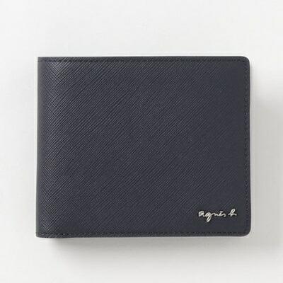 アニエスべー 折財布 ウォレット ネイビー agnes b