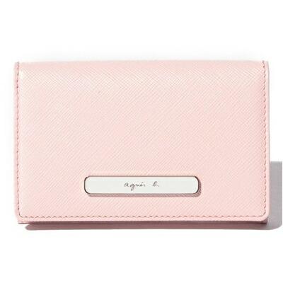 アニエスべー カードケース 名刺入れ ピンク agnes b