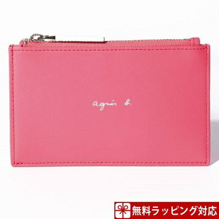 アニエスべー カードケース メンズ ピンク agnes b
