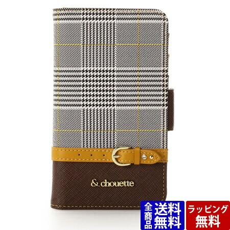 サマンサタバサ スマホケース グレンチェック iPhone XSケース イエロー &chouette